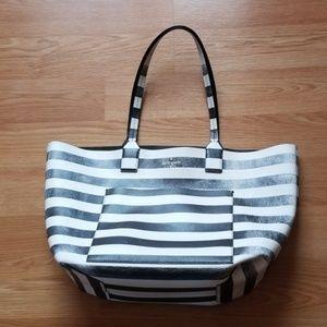 Kate Spade  black/white striped Tote/purse
